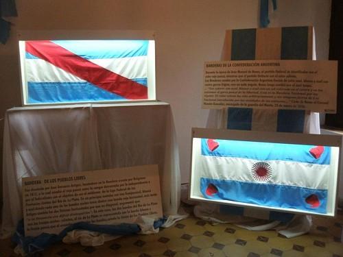 La Muestra «Las Banderas de Belgrano» se expusieron en Suardi
