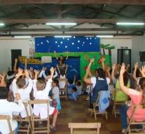 En Monte Oscuridad se presentó una Obra de Títeres para todos los niños