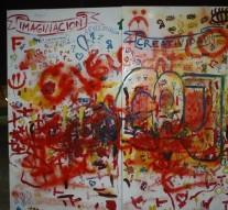 Suardi: Se llevó a cabo una «Intervención artística» en Plaza San Martín