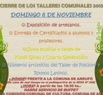 """Arrufó: """"Gran Cierre de los Talleres Comunales 2015"""""""