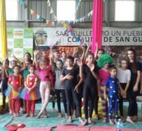 El «Circo de Ilusión» en el aire brilló en San Guillermo
