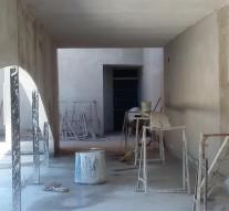 Se realizan trabajo en el Centro Cultural de San Guillermo