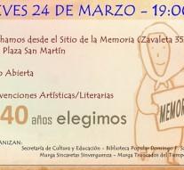 """Suardi: Actividades por el """"Día Nacional de la Memoria por la Verdad y la Justicia"""""""