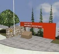Villa Trinidad: Inauguración de la Plazoleta Malvinas Argentinas