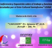 En Arrufó se presenta el Ente Cultural Santafesino