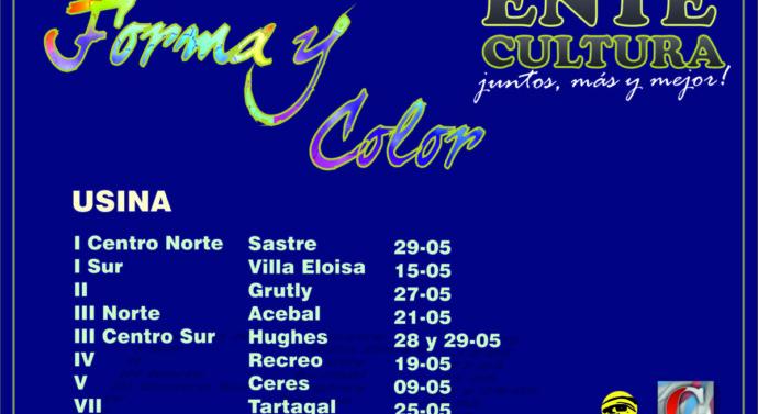 El Programa «Forma y Color» llegará a toda la provincia de Santa Fe