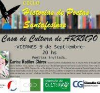 """Arrufó recibe el ciclo """"Historias de Poetas Santafesinos"""""""