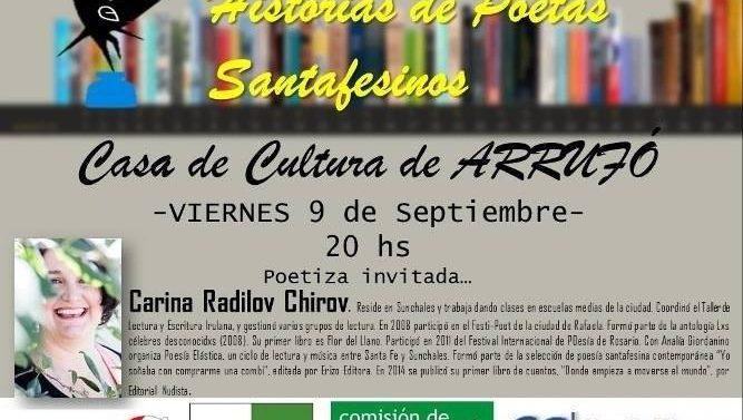 Arrufó recibe el ciclo «Historias de Poetas Santafesinos»