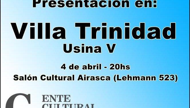 """El """"Plan 2017"""" del Ente Cultural Santafesino se presenta en Villa Trinidad"""