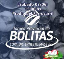 """Suardi llevara a cabo su """"Torneo Provincial de Bolitas"""""""