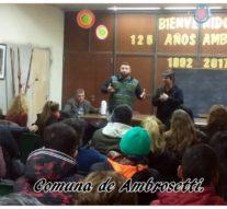 Ambrosetti: Charla sobre prevención de consumo de drogas legales e ilegales