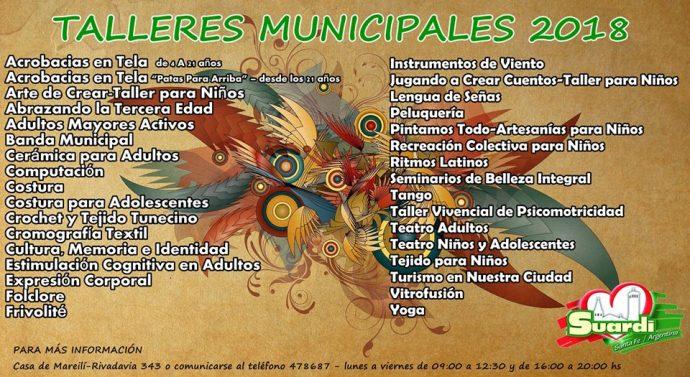 """""""Talleres Culturales 2018″en la ciudad de Suardi"""