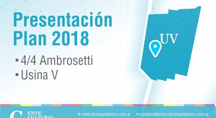 """El Ente Cultural Santafesino presenta su """"Plan 2018"""" en Ambrosetti"""