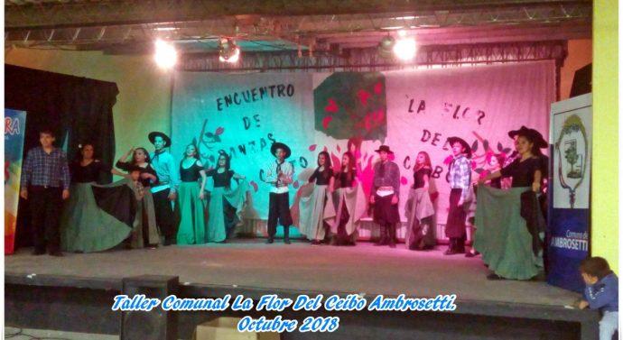 """Encuentro de """"Canto y Danza"""" en la localidad de Ambrosetti"""