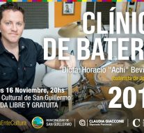 «Achi» Bevilacqua brindará una nueva «Clínica de Batería» en San Guillermo