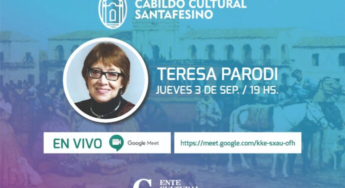 Teresa Parodi en el «Cabildo Cultural Santafesino»