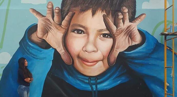 La artista sancristobalense Lidia Jalife perpetúa la imagen de Maxi Sosa