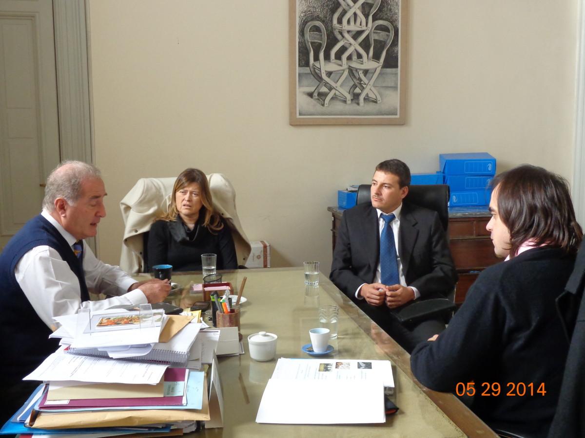 Entrevistas del Ente Cultural en el Ministerio de Cultura de la Nación
