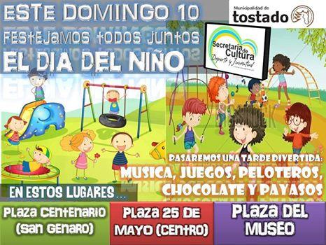 Tostado celebra el Día del Niño