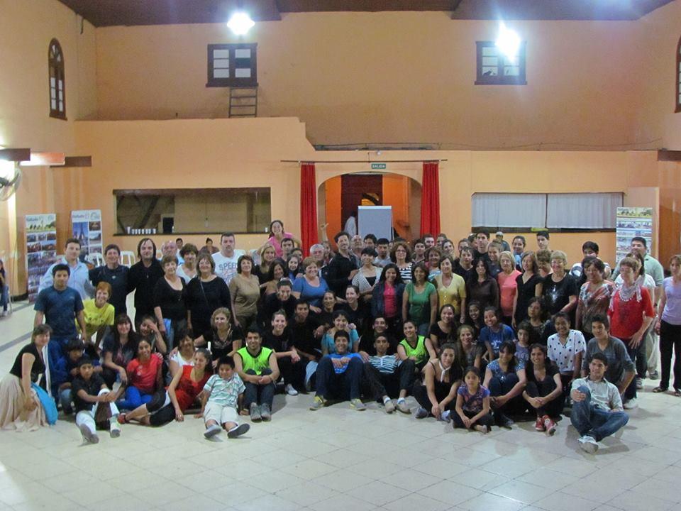 """Tostado recibió junto al """"Ballet Nacional"""" a un centenar de bailarines"""