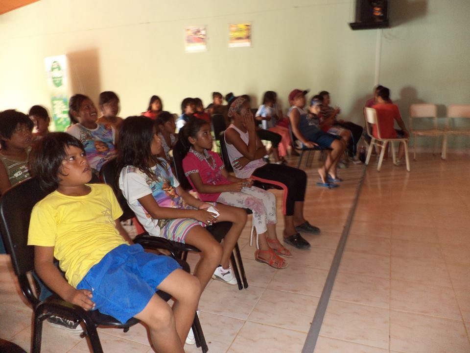 Tostado: Niños de la Comunidad Mocoví disfrutaron del Ciclo de Cine en el NAC