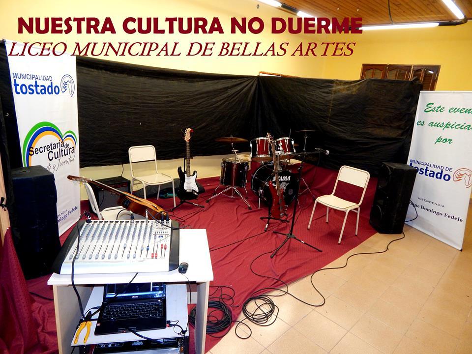 La Secretaria de Cultura de Tostado inauguró una Sala de Ensayo