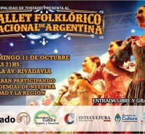 """Tostado recibe al """"Ballet Folclorico Nacional"""""""