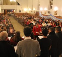 Tostado: El Coro Polifónico Municipal y el de Jóvenes se presentaron en la Parroquia local