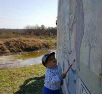 """Gato Colorado: El primer """"Faro de Campo"""" fue restaurado por Artistas plásticos locales"""