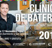 «Achi» Bevilacqua llega a Tostado para brindar una «Clínica de Batería»