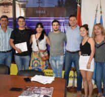 Los participantes del Pre Cosquín (Sede Tostado) visitaron al Intendente Mualem