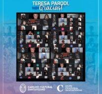 Teresa Parodi abrió el «Cabildo Cultural Santafesino»