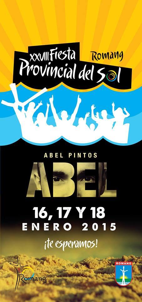 Romang: Abel Pintos y Los Palmeras actuarán en la «Fiesta Provincial del Sol»