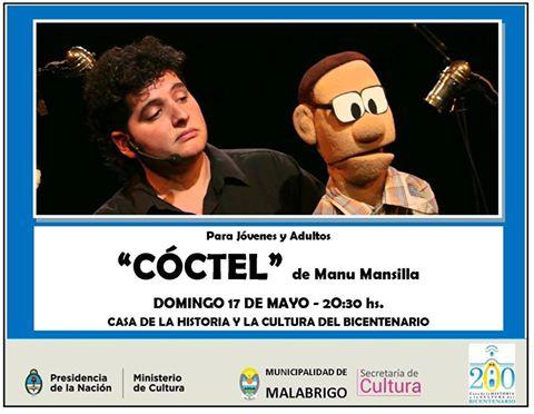 """Malabrigo: Títeres para Jóvenes y Adultos: """"Cóctel"""" de Manu Mansilla"""