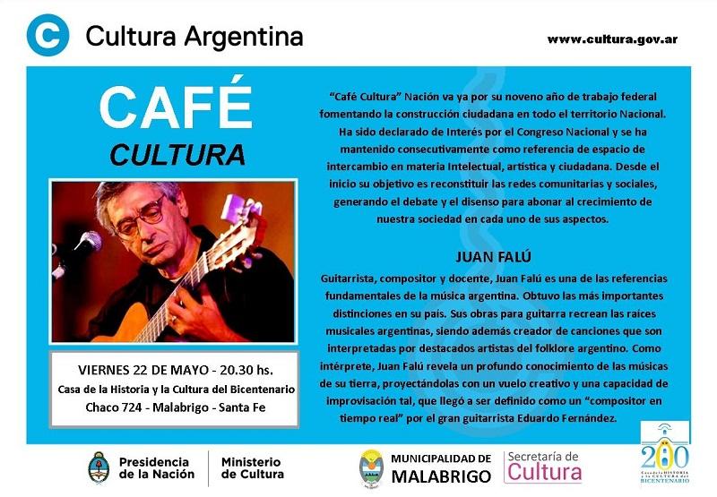 Café Cultura Nación: Concierto de Juan Falú en Malabrigo
