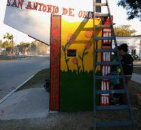 """Los vecinos de San Antonio de Obligado pintaron su """"Faro de Campo"""""""