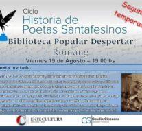 """El ciclo """"Historias de Poetas Santafesinos"""" llega a Romang"""