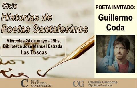 """Las Toscas recibe el ciclo """"Historias de Poetas Santafesinos"""""""