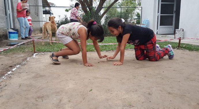 En la  comunidad de Las Garzas también se jugó a las Bolitas