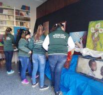 La Muestra «Forma y Color» ya es expuesta en la «Biblioteca Popular Estrada» de Las Toscas