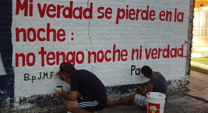 """""""Acción Poética"""" en la ciudad de Las Toscas"""