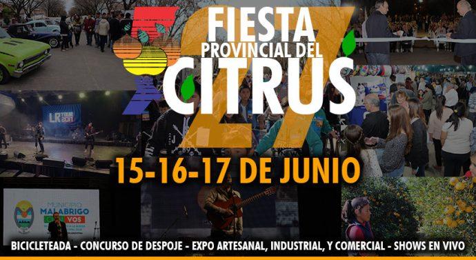 Malabrigo: El lunes se presenta la 27ª Fiesta Provincial del Citrus