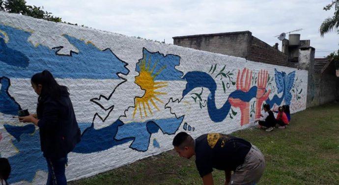 Murales en Homenaje a los Héroes de Malvinas en la ciudad de Florencia