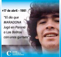 El día en que Maradona «jugó a la bolita»