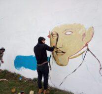 Florencia: Mural conmemorativo al día de la bandera
