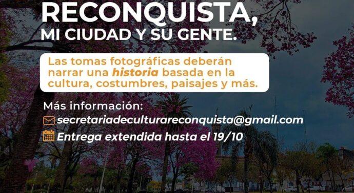 """Se extiende el cierre del concurso de fotografía, «Reconquista, mi ciudad y su gente"""""""
