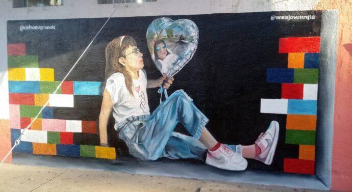 Reconquista tiene un nuevo mural sobre calle Rivadavia